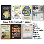 Peace & Purpose Inspiration cards (7 total)