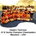 5 Eastern Technical Cheerleaders -- Maryland