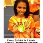 5 Eastern Technical Cheerleaders -- Maryland c