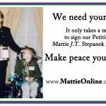 "Mattie with his friends Congressman Jim Moran and CHI Founder Ann Armstrong-Dailey -- together, they lobbied for what is now the ""Mattie & Melinda Bill"" for improved hospice for children and families."