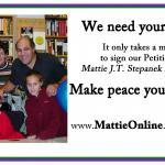 "Mattie with Laura, Diane, Sal, and Annie Tresca -- dear family friends throughout all of Mattie's life. The Trescas are active in the activities and programs of Mattie's Foundation and do all they can to carry his peace mission ""forthward."""
